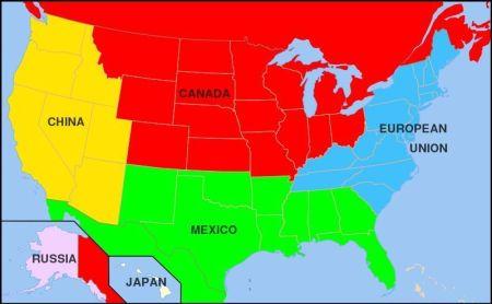 Rozpad USA wg I.Panarina