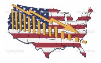 ilustracja recesji i tendencji spadkowych w USA